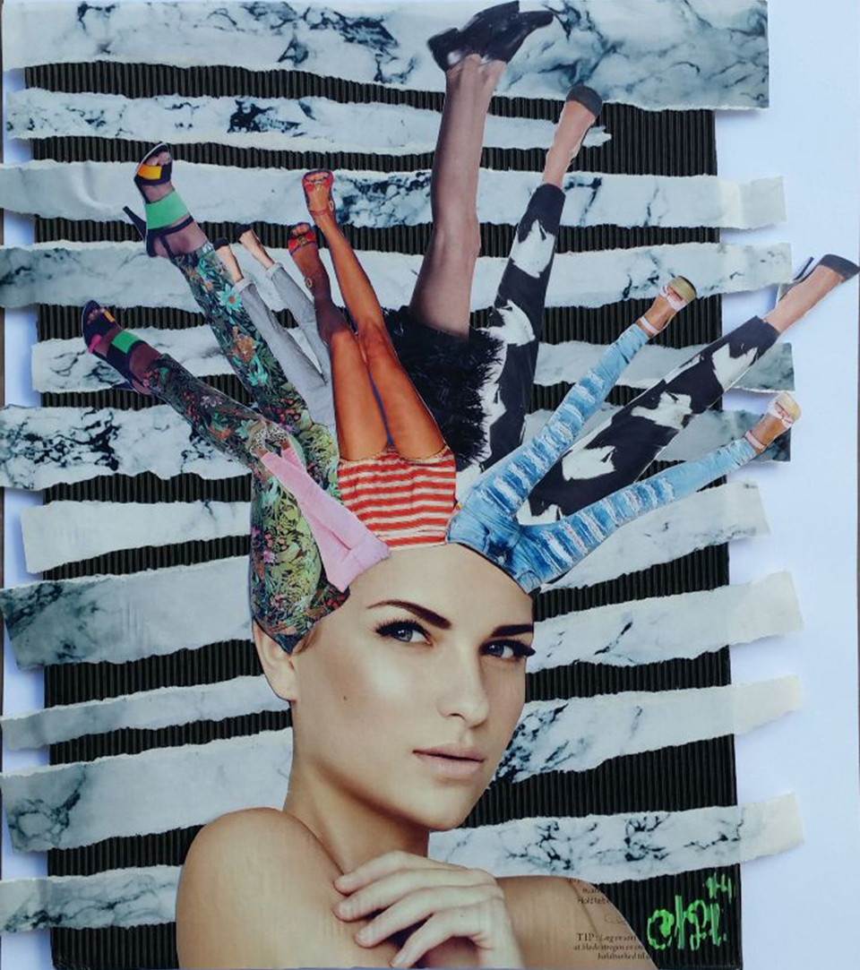 head over heels, collage