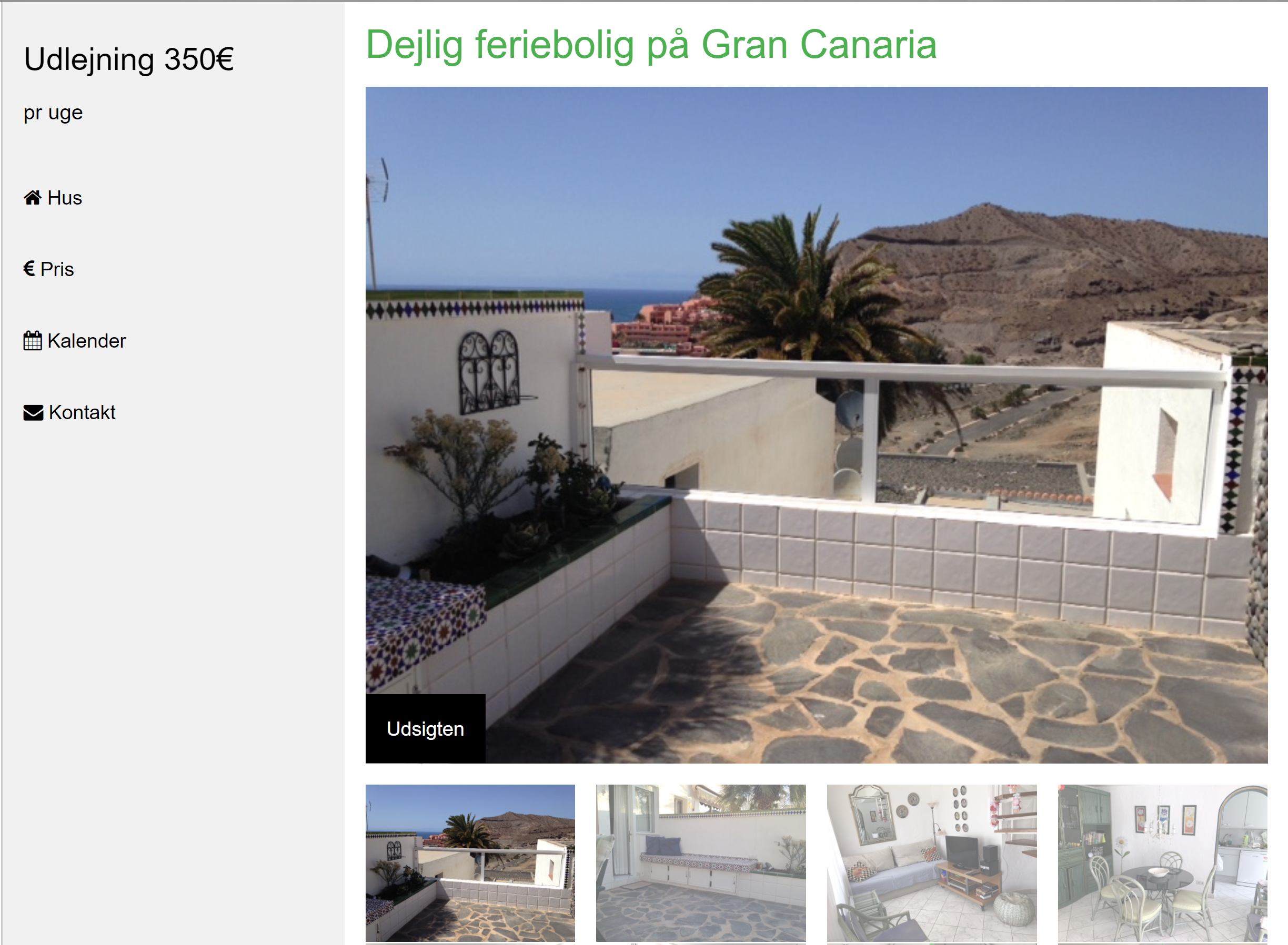 canaria.nu, webdesign for a lovely house in Gran Canaria