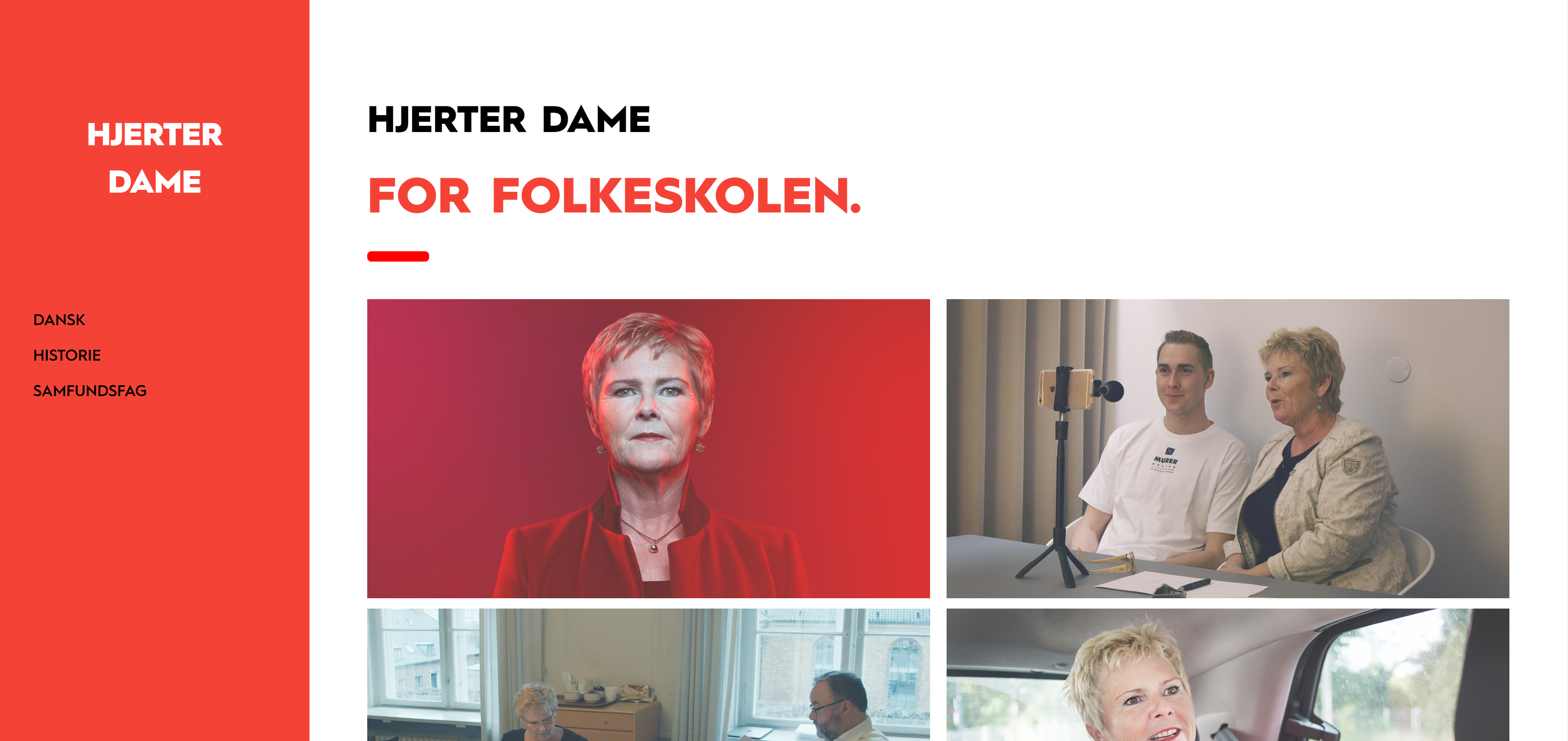 Webdesign for the documentary, Hjerter Dame