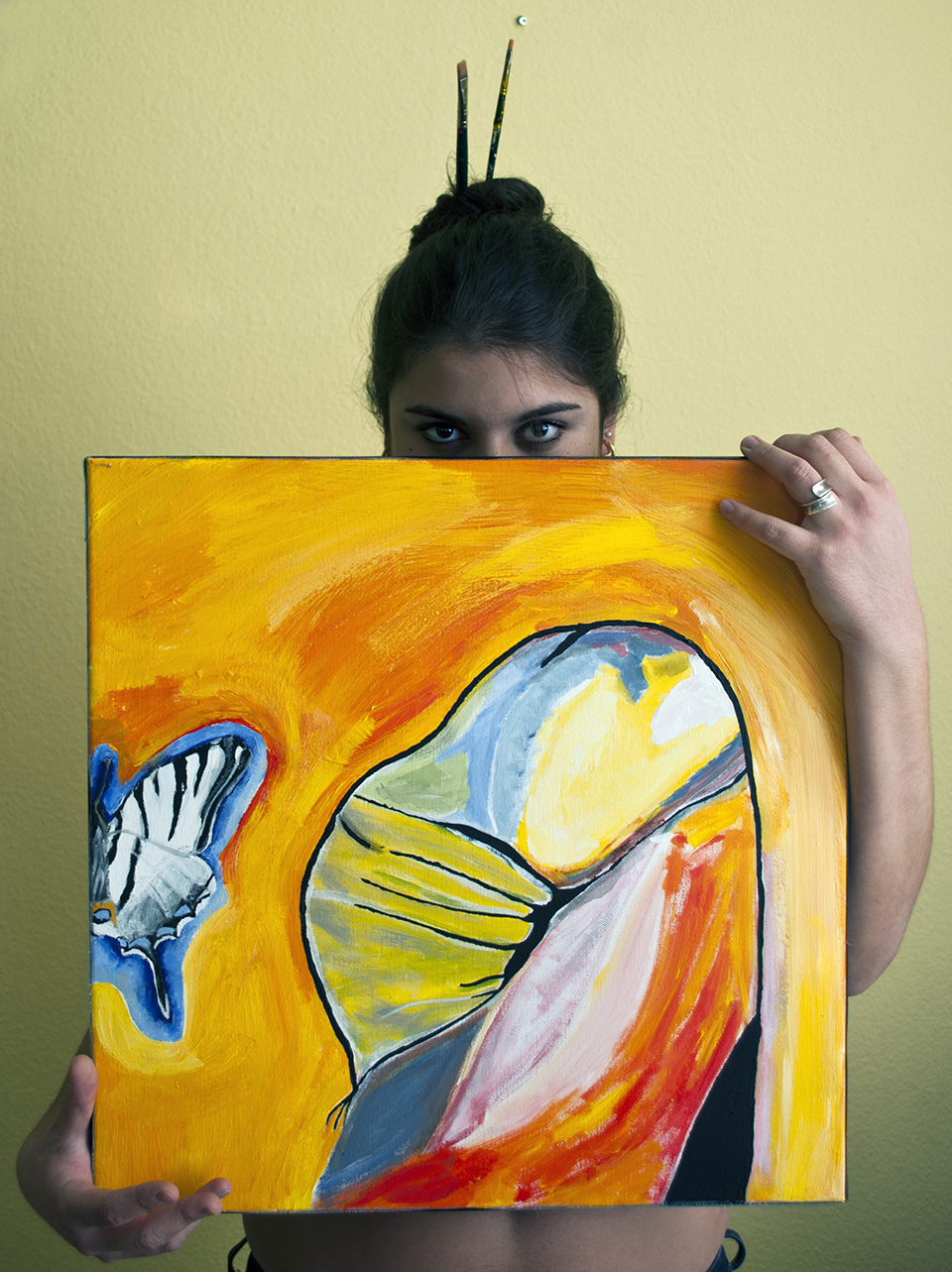 mariposa traicionera, acryl on canvas